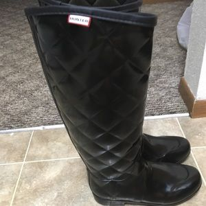 Hunter regent savoy Quilted Rubber Boots FIRM